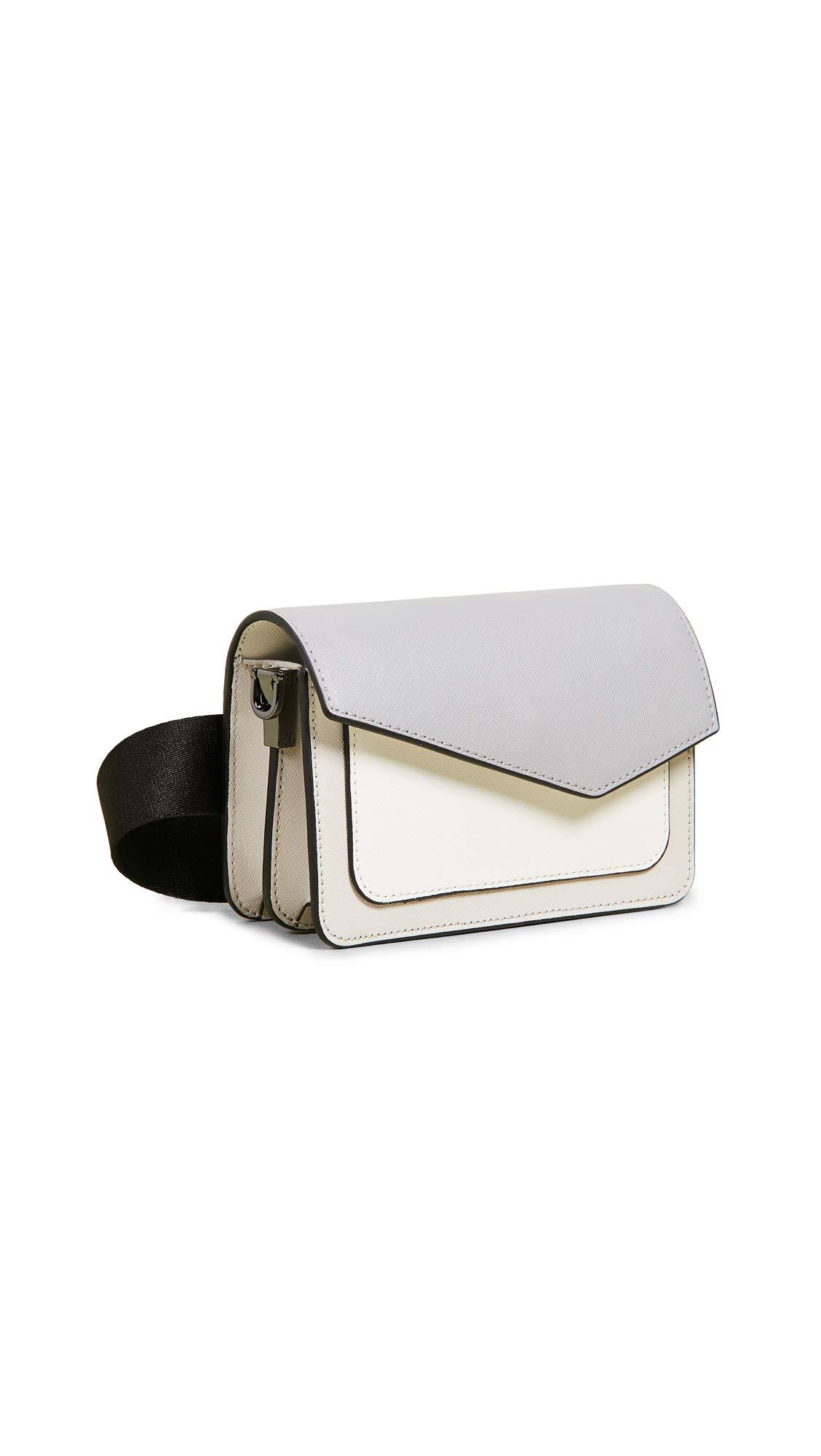 Botkier Women's Cobble Hill Belt Bag, Dove Colorblock, Grey, One Size
