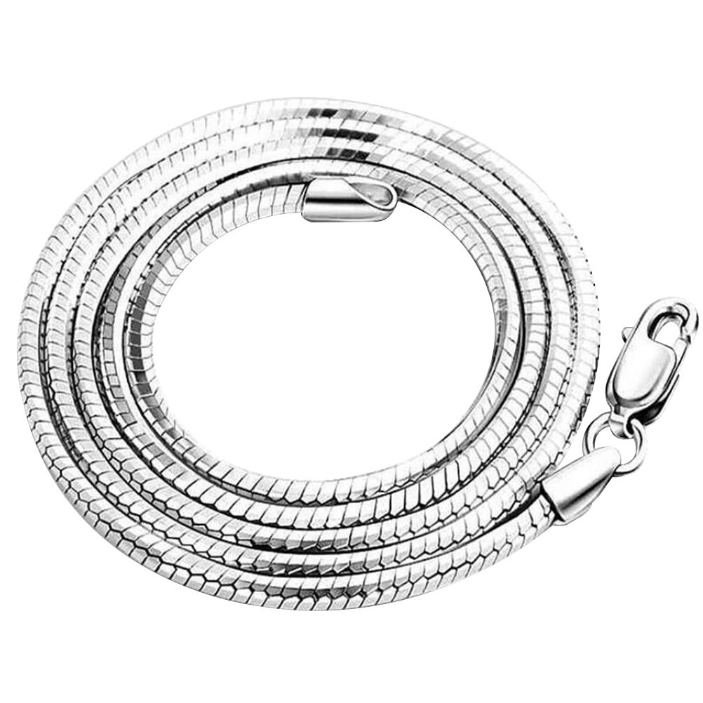 FENICAL Snake Chain Necklace Curb Cuban Figaro Necklace Sterling Silver Jewelry for Lovers Friends
