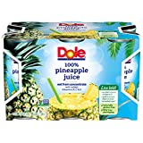 Dole 100% Pineapple Juice, 6 Ounce Can (Pack of 6), Pineapple Juice in Individual-Serving Cans, Great for Smoothies Drinks Marinades Desserts and More