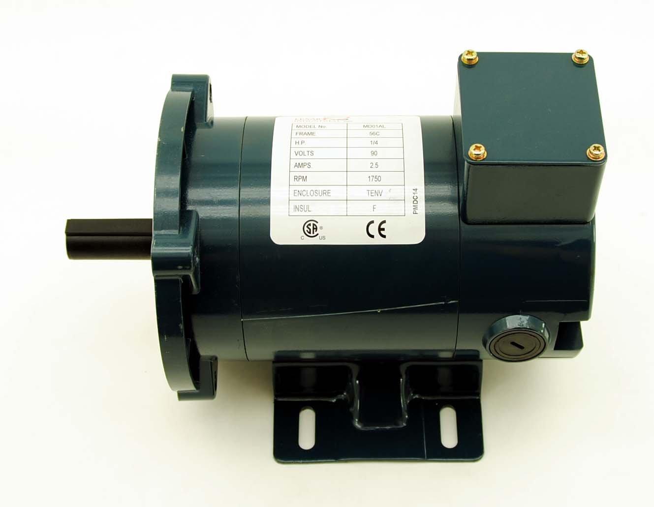 Lexar 1/4 HP DC Motor TENV 90v 1750 RPM 56C Permanent Magnet PMDC14 MD01AL
