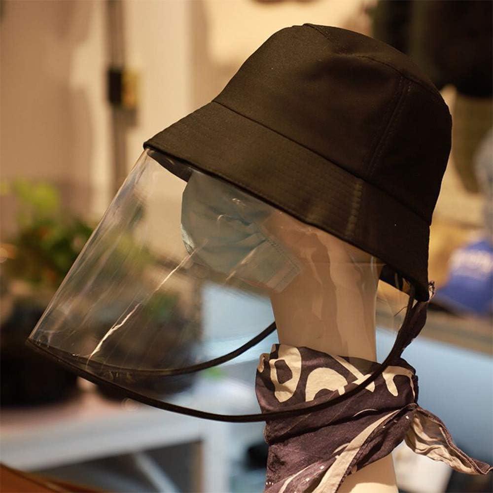 Chapeau de S/écurit/é Couverture Anti-bu/ée Femmes Protection Ext/érieure Noir KKTECT Protection Anti-Salive Chapeau Chapeau P/êcheur /étanche et Anti-poussi/ère pour Hommes