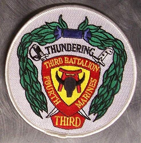 Embroidered Military Patch USMC 3rd Battalion 4th Marines New Thundering Third r (Marines Patch 4th)