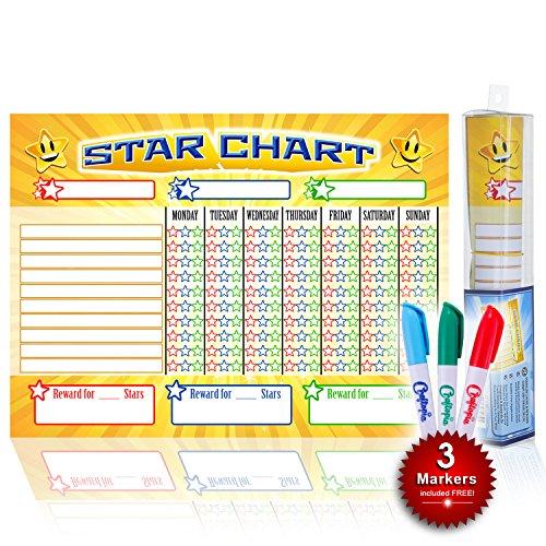 kids star chore chart - 3