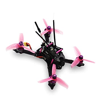 HGLRC XJB-145 FPV Racing Drone 145mm Carbon Fiber Frame Kit OSD F4 Flight  Controller 1407 3600KV Brushless Motor 28A 4 in 1 ESC 25/100/250mW VTX  (Pink