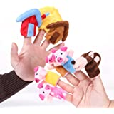 "Foto4easy ""The Three Little Pigs"" Animal Finger Puppet Toy Educational Toys Storytelling Doll ( 8pcs/set)"