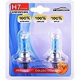 H7 Halogen Headlight Bulb with Super White Light Long Life 1200 Hours PX26D 12V/55W 4800K, 2 Pack,Long Life