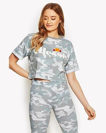 1633e18b66 Amazon.com: ellesse Women's T-Shirt Alberta Crop Top, Color:Grey ...