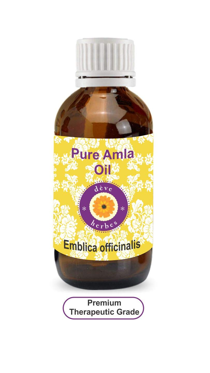 Deve Herbes Pure Amla Oil (Emblica officinalis) 100% Natural Therapeutic Grade (5-1250ml) DHVAM630