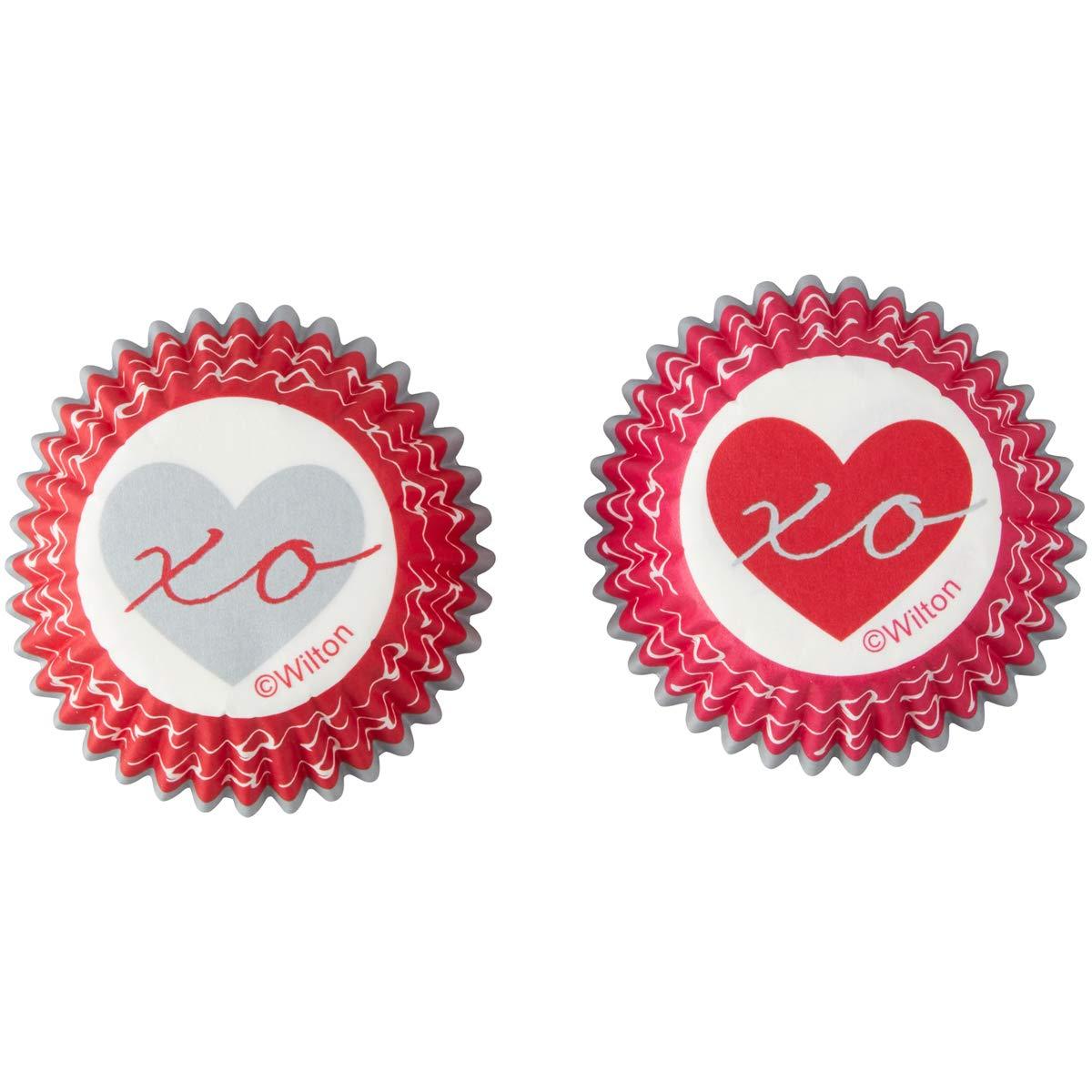 Wilton 415-5516 Heartfelt Valentine Mini Baking Cups