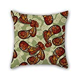 NICEPLW The Paisley cushion covers of ,16 x 16 inches / 40 by 40 cm decoration,gift for deck chair,divan,outdoor,deck chair,pub,family (both sides)