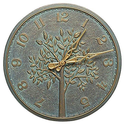 Bronze Indoor Outdoor Clock (Whitehall Products Tree of Life 16-in. Indoor/Outdoor Wall Clock)