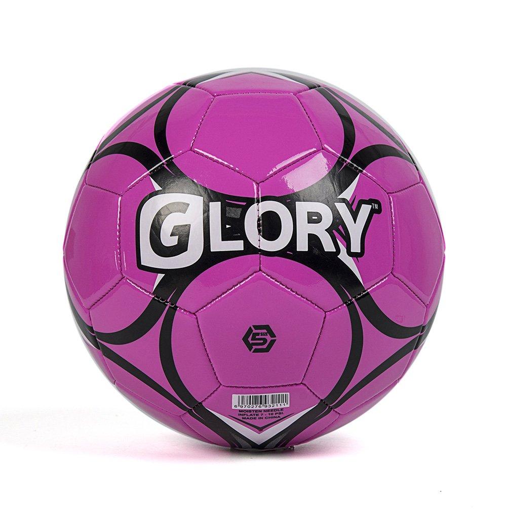 GloryスポーツサッカーボールPVCカバー公式サイズ5低重量 B074QK3WV4 ピンク ピンク