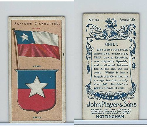 P72-29 Player, Countries Arms & Flags, 1912, 34 Chili