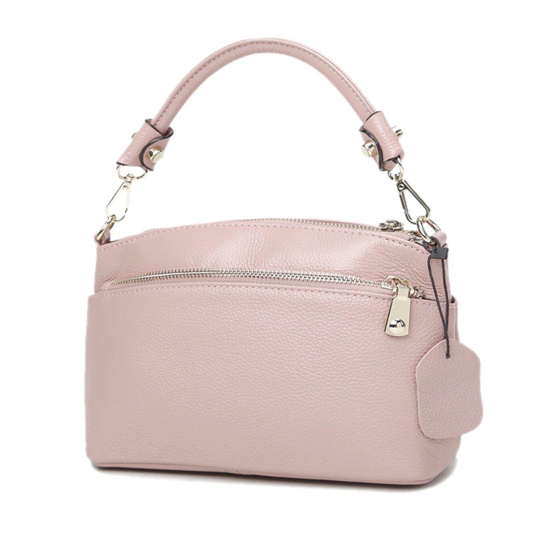 Artwell Women Genuine Leather Clutch Small Crossbody Shoulder Bag Ladies Small Handbag Satchel Phone Wallet Purse (Pink)