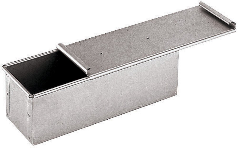 Paderno World Cuisine 7.825 by 4 Inch Aluminized/Steel Bread Pan with Cover by Paderno World Cuisine
