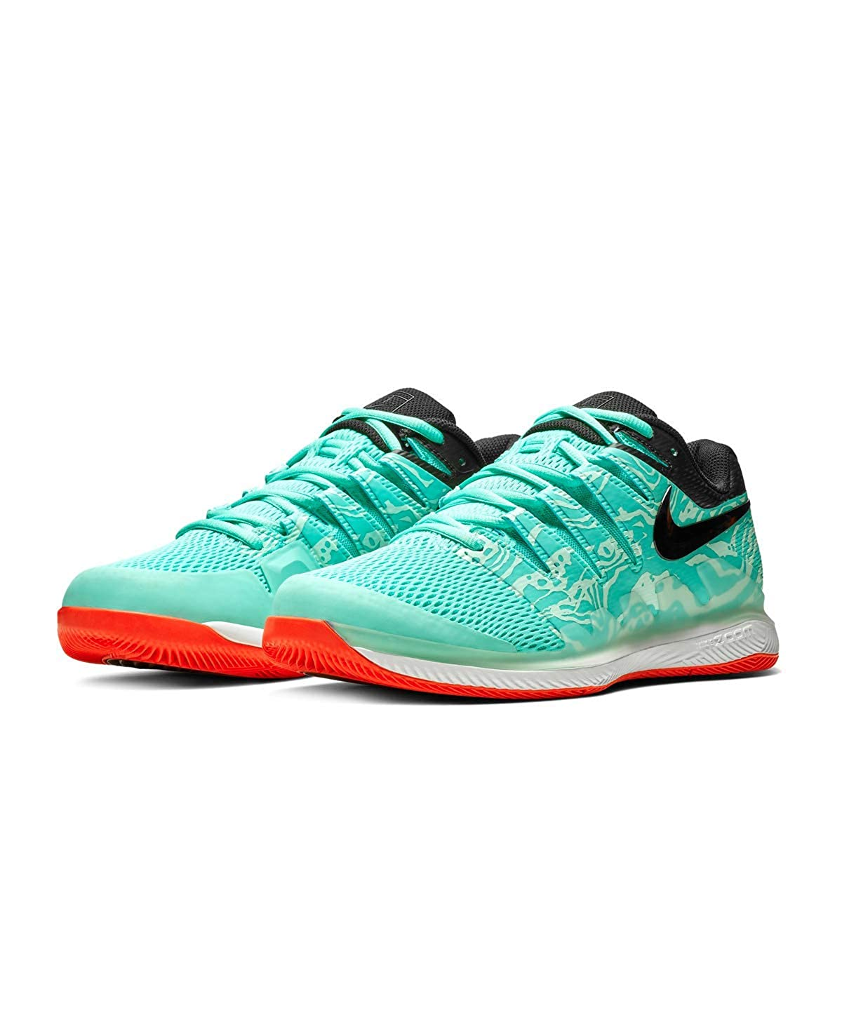 2b889f06da90a Nike Men's Zoom Vapor X Tennis Shoes (Aurora/Teal Tint/Phantom/Black ) 9 M  US