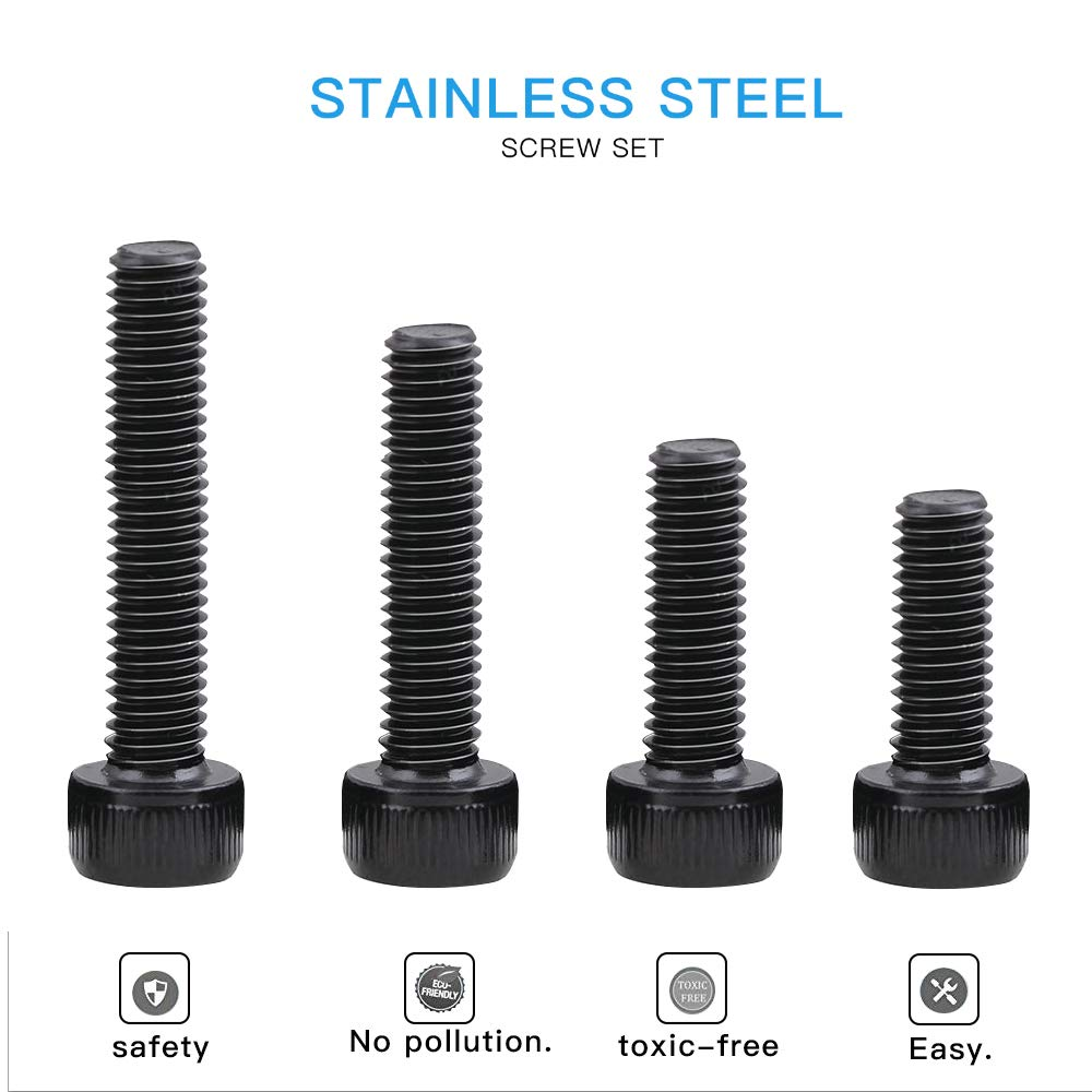Black Oxidation Treatment 12.9 Grade Alloy Steel 600 Pieces SZHKM M3 Alloy Steel Six Angle Screw Nut Assortment Kit