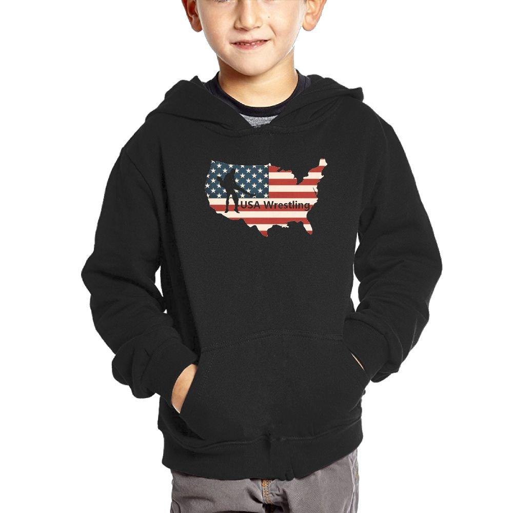 Small Hoodie USA Wrestling Unisex Fashion Pocket Hoodie by Small Hoodie