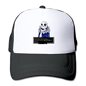 Men Undertale Sans Get Dunked On Twill Mesh Adjustable Snapback Trucker Baseball Cap