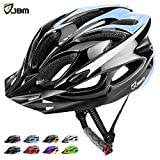 JBM Adult Cycling Bike Helmet Specialized for Mens Womens Safety Protection Red / Blue / Yellow (Black & Blue, Adult)