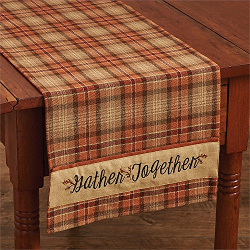 Park Designs Gather Together Embroidered Table Runner 13x36 inches