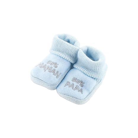 ec65a966 zapatitos de bebé 0-3 Meses azules - 50 50 Mama Papa: Amazon.es: Bebé