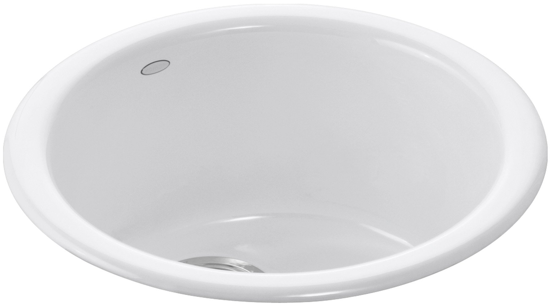 KOHLER K-6565-0 Porto Fino Self-Rimming Undercounter Entertainment Sink, White
