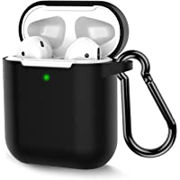 Coffea Protective Silicone Case with Keychain for Apple AirPods 2 (Black)