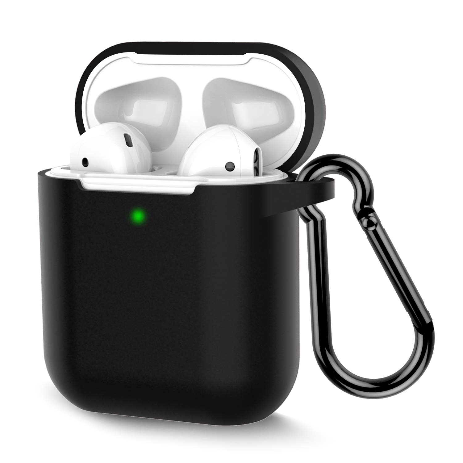 airpods case keychain, black