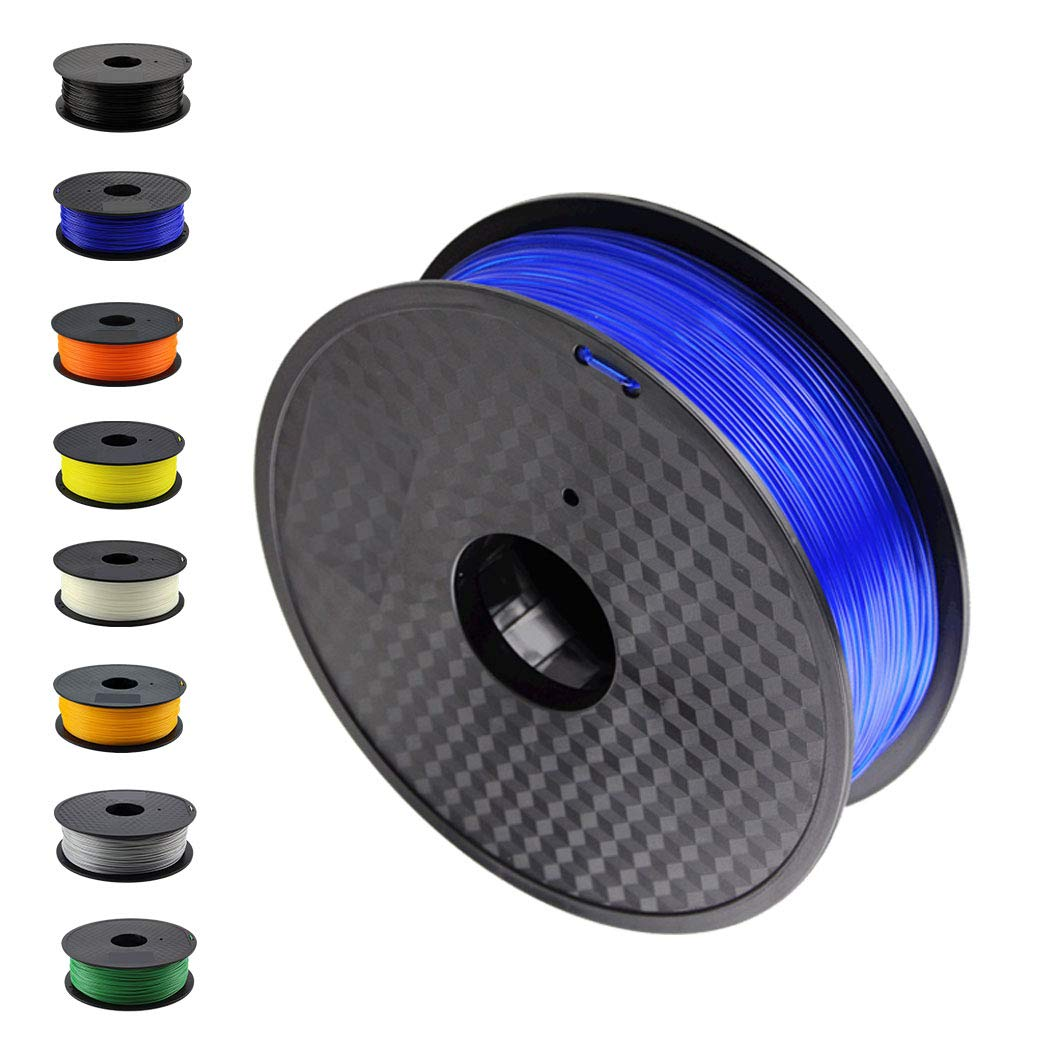 DruckerRhino 3D Druck PLA Filament 1,75 mm 1kg Rolle für 3D Drucker oder Stift in Vakuumverpackung Blau