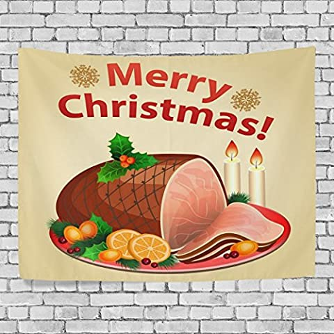 WellLee Merry Christmas Wall Tapestry,Xmas Thanksgiving Day Sweet Meat ,Home Decor Tapestry Wall Hanging for Dorm Throw Living - Prince Hand Painted Wall Hanging