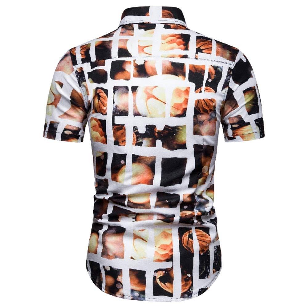 Mens Short Sleeve Shirt Floral Short Sleeve Shirt Fashion Casual Short Sleeve Shirt
