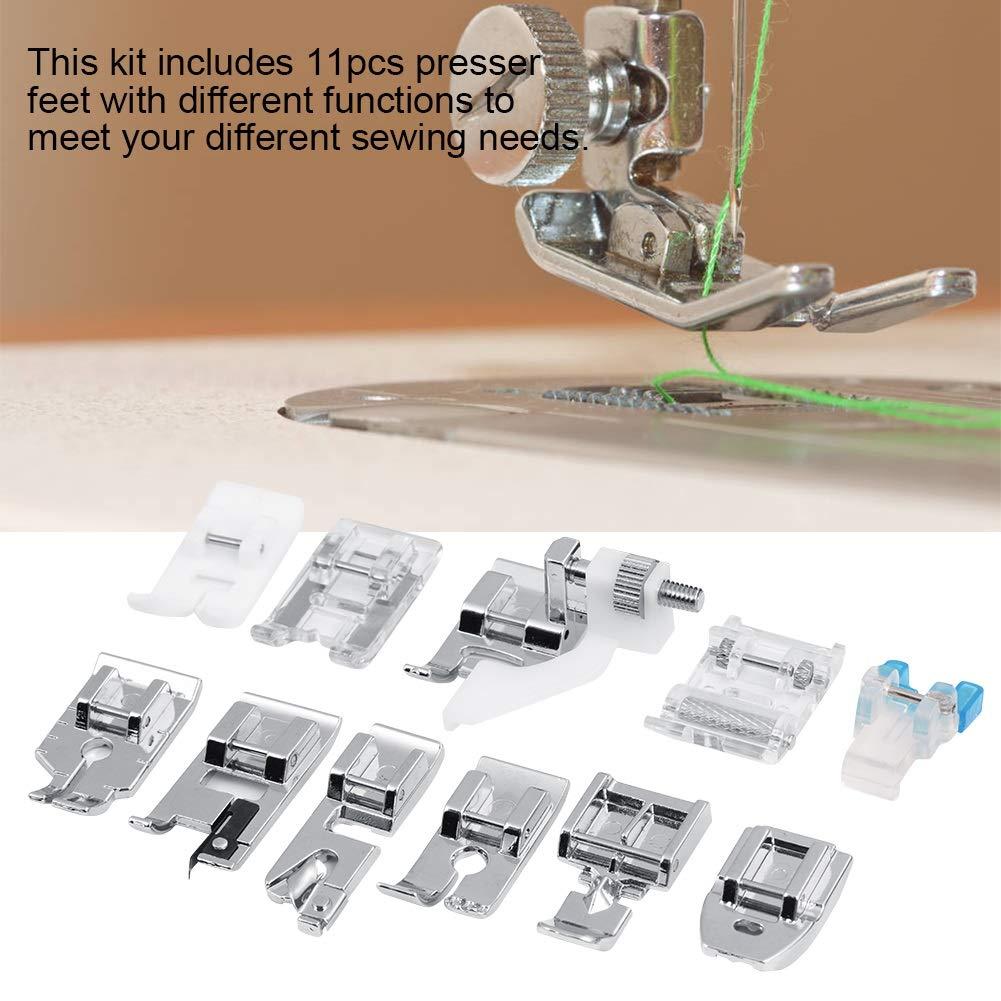 DGTRHTED Cosa el pie - 11pcs / Set Piezas de la máquina de Coser del hogar Que acolchan el Kit de los pies del Presser del pie de la Cremallera Que Camina: ...