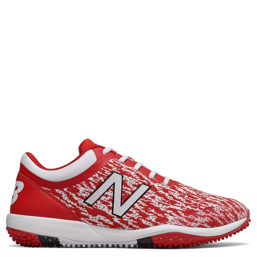 New Balance Men's 4040v5 Turf Running Shoe, RED/White, 7.5 D US by New Balance