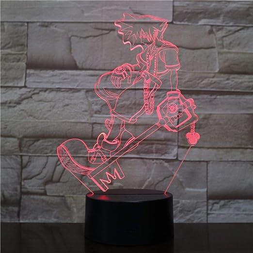Lixiaoyuzz Lámparas De Mesa Usb 3D Led Multicolor Luces ...