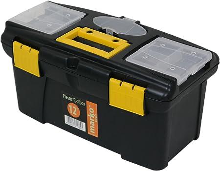 marko tools plastic tool box sturdy lockable removable storage