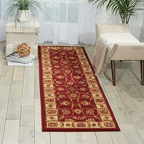 Nourison Paramount Red Runner Area Rug, 2-Feet 2-Inches by 7-Feet 3-Inches 2 2 x 7 3