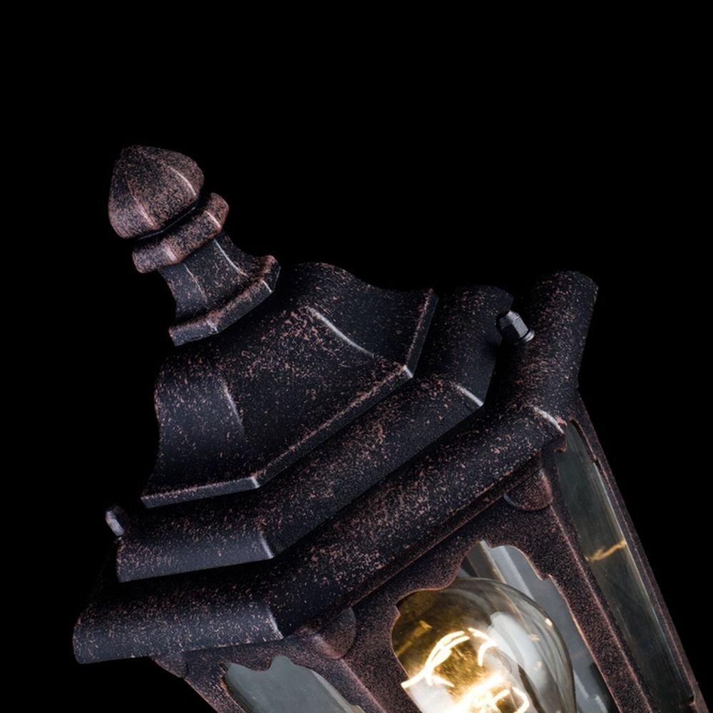 Klares Glas exkl.1 E27 60W IP44 220-240V Metall In Farbe Bronze Rustikale Sockelleuchte Au/ßen