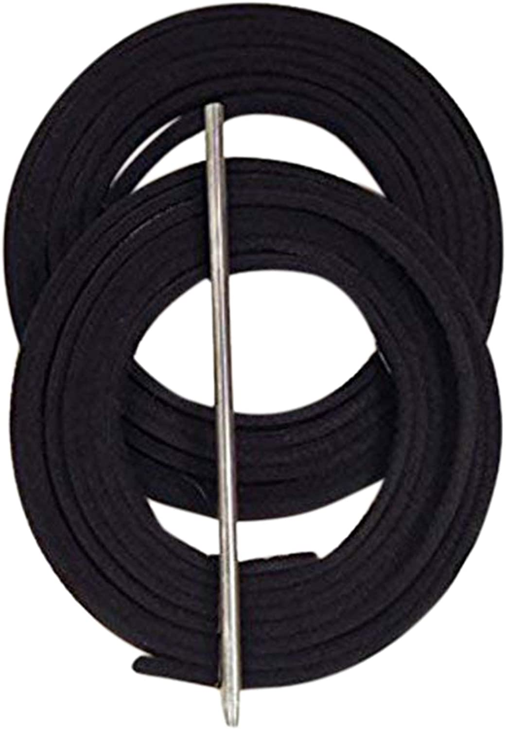 """2 laces ~ 3//16/"""" x 72/"""" Solid Black AC ~ BASEBALL GLOVE ~ Repair Leather laces"""