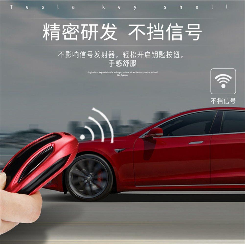 Dayjoy For Tesla Model S Luxury Premium Aluminum Car Key Case Shell
