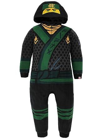 ab5144d6abc3b Amazon.com: Lego Ninjago Boys Fleece Hooded Union Suit Pajamas: Clothing