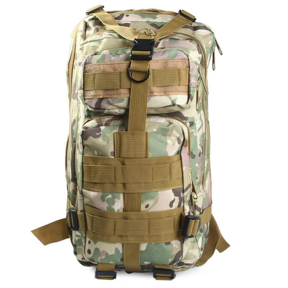 ArmyGreen HUYANNABAO Outdoor Military Tactical Backpack 30L Molle Bag Army Sport Travel Rucksack Camping Hiking Trekking Camouflage Bag