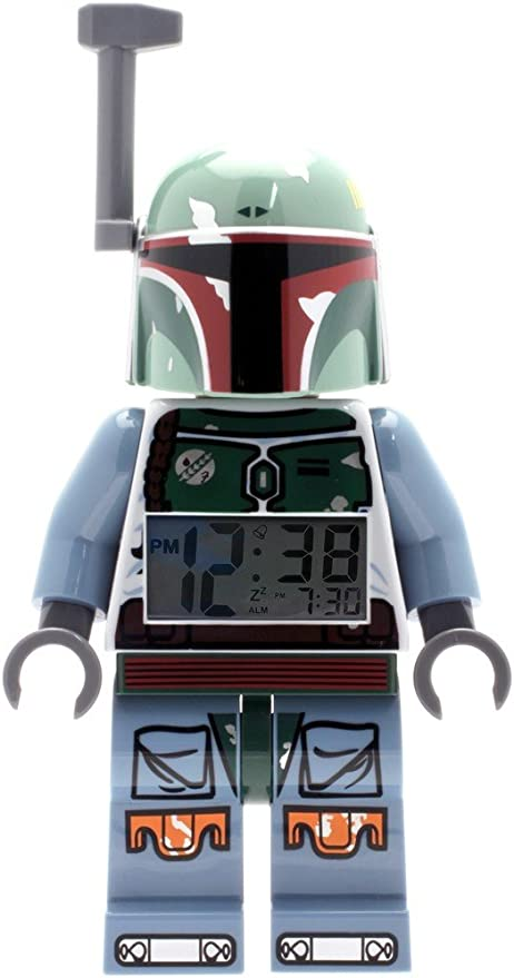Lego Star Wars Boba Fett Kids Minifigure Light Up Alarm Clock
