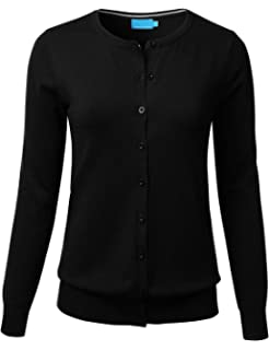 b95153da7 BH B.I.L.Y USA Women s V-Neck Button Down Long Sleeve Soft Classic ...