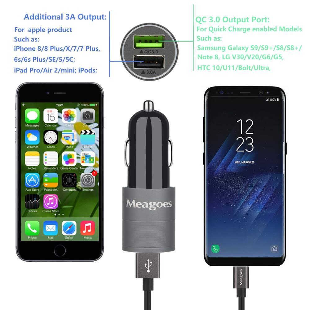 Amazon.com: meagoes carga rápida USB 3.0 tipo C Cargador de ...