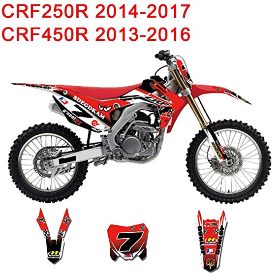 CRF 250 CRF450 front fender sticker decal Honda CR fender graphics 2013 2016 SMX