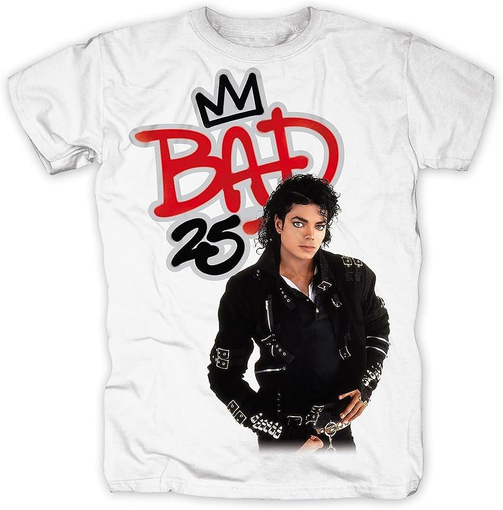 Bravado - Camiseta de Michael Jackson con Cuello Redondo para Hombre, Talla 41, Color Blanco: Amazon.es: Ropa y accesorios