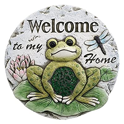 Welcome to Our Home Frogs 10 x 10 Inch Resin Decorative Stepping Stone