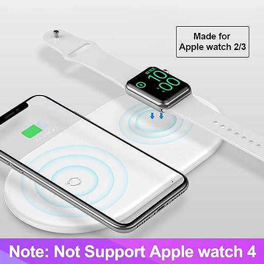 Fcostume 2 en 1 Qi Cargador inalámbrico rápido para Apple ...