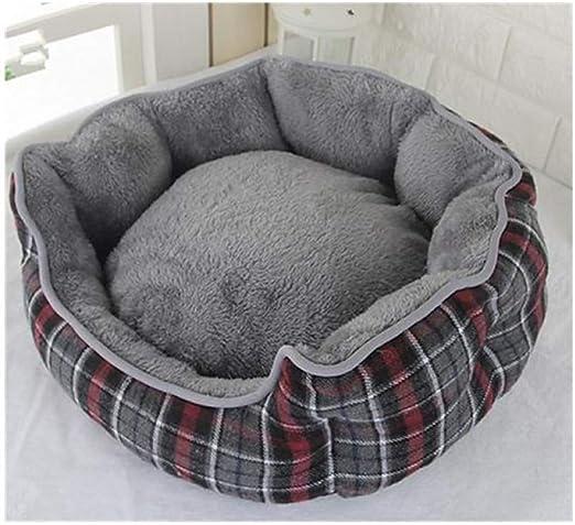 RCFRGV Cama para Mascotas para Gatos y Perros Almohadilla para colchoneta para Perros Mantas para Cama Cuddle Bed Cave Tela Cestas para Mascotas Gris Amarillo Azul: Amazon.es: Productos para mascotas